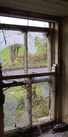 neglected sash window badly damaged